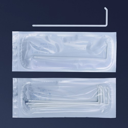 Etaleur forme L blanc stérile emballage individuel