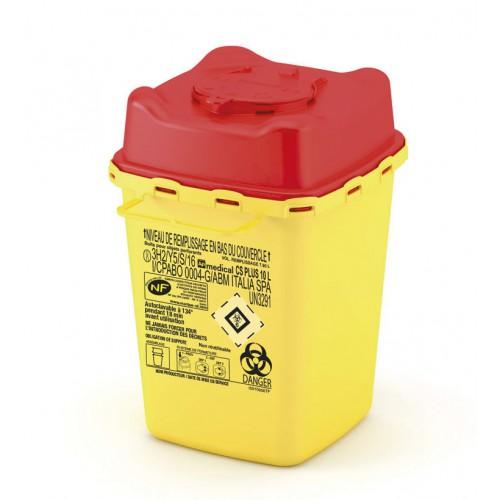 Collecteur pour déchets hospitaliers CS 10 lt PLUS