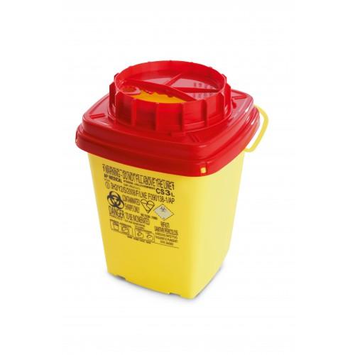 Collecteur pour déchets infectieux CS 3 lt