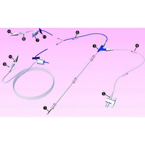 DOUBLECYTE Aiguille a double lumière pour prélèvement ovocytes et rinçage folliculaire