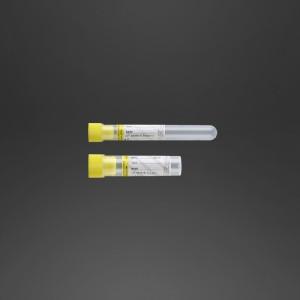 Tube 12 x 86 mm 0.5 ml citrate de sodium pour coagulation bouchon jaune