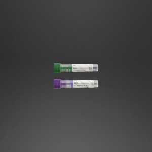 Tube pédiatrique 12 x 56 mm K3 EDTA x 1 ml de sang bouchon vert