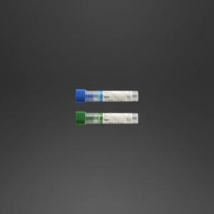 Tube pédiatrique 12 x 56 mm héparine de lithium x 1 ml de sang bouchon vert foncé