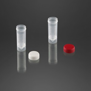 Pot à urine 30 ml avec surface d'écriture avec bouchon à vis blanc non vissé à part